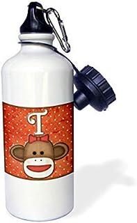 GFGKKGJFD624, GFGKKGJFD624 Lindo calcetín mono chica letra inicial T aluminio deportes botella de agua novedad divertido para hombres mujeres niños Navidad Bithtday regalos