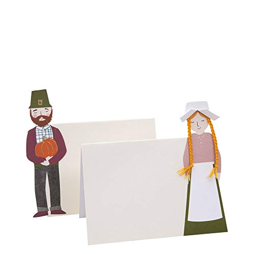 Meri Meri Pilgrim Settler Place Cards - Ideal Addition to Your Party Supplies - Thanksgiving, Holiday