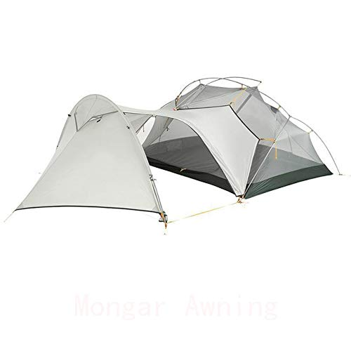Mdsfe Naturehike Mongar 2 Person Tourist Tent Waterproof 15D Nylon Fabric Camping Tent Ultralight Aluminum Alloy Large Space With Mat-Mongar Awning,A3