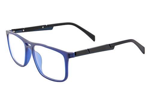 SHINU TR90 - Occhiali da lettura multifocale progressiva multifocale da donna, con cerniera a molla, -MFANB6131 C4 blu. M