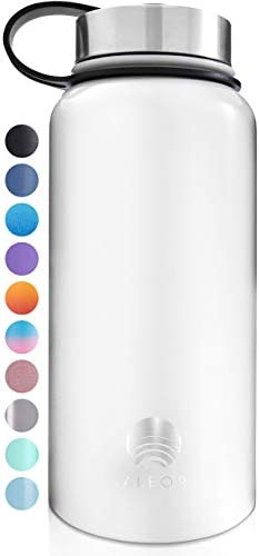 ALBOR Insulated Water Bottle with Straw 32 Oz Water Bottle Stainless Steel Water Bottle with product image