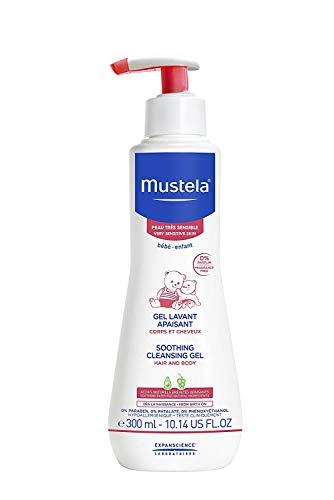 Sabonete Líquido sem Fragrância Gel Lavante Calmante para Pele Muito Sensível e Sensibilizada, Mustela Bebê, Rosa, Médio/300 ml