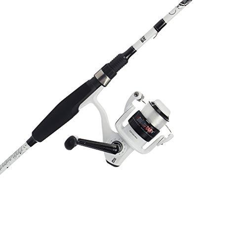 Abu Garcia Mike Iaconelli Pro-Designed Youth Reel and Fishing Rod Combo, White, 6' - Medium - 2pc