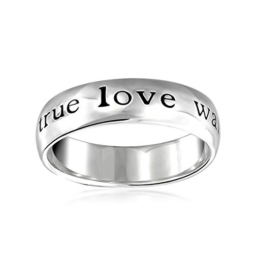 Bling Jewelry Mantra Sentimental Words True Love Waits Purity Promise Ring Band for Teen 925 Sterling Silver