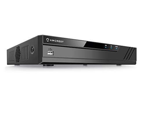 Amcrest 4K NV4116-HS (16CH 720P/1080P/3MP/4MP/5MP/6MP/8MP/4K) Network Video Recorder - Supports up to 16 x 8-Megapixel IP Cameras, Supports up to 6TB Hard Drive (Not Included) (No PoE Ports Included)