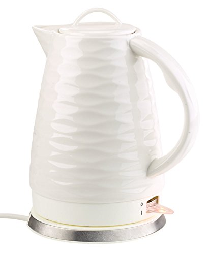 Rosenstein & Söhne Keramik Wasserkocher: Porzellan-Wasserkocher WSK-270.rtr, 1,7 Liter, 1.500 Watt (Elektro-Wasserkocher)