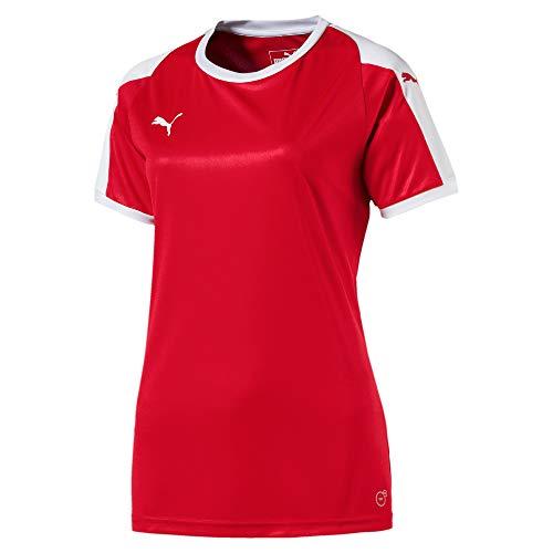 PUMA Women's Liga Jersey Shirt, Redpuma White, XX-Large