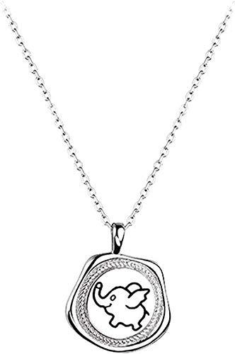 Aluyouqi Co.,ltd Collar Collar Collar Bebé Elefante Medalla Collar Colgante Collar Mujer