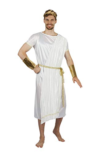 Bristol Novelty AF088 costume da dio greco, da uomo, bianco, oro, taglia unica