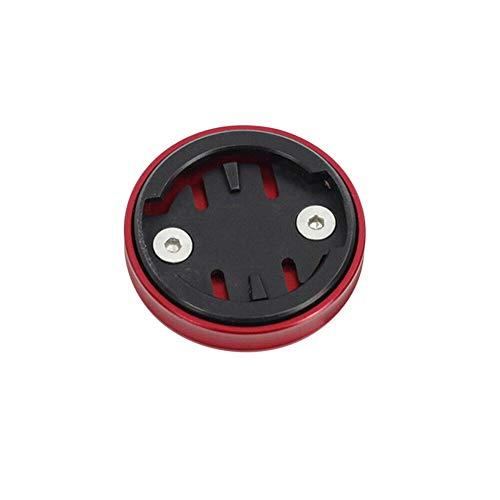 Xingsiyue Tapa Superior del Vástago de Bicicleta para Wahoo Elemnt/Mini/Bolt/Roam,Adaptador de Varilla de Bici (Rojo)