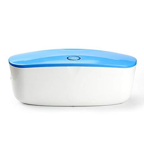 CWWHY Caja Profesional Esterilizador UV, Máquina Desinfectadora Arte Uñas LED, con Desinfección Ozono, para Bebés, Teléfonos Celulares, Herramientas Belleza, Equipos Salón Uñas,Azul