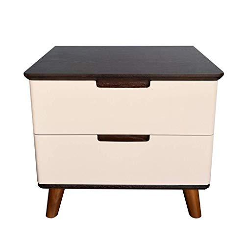 ZGYQGOO Nachttischchen- Nachttischchen mit Schubladen Aufbewahrungsschrank Einfache Moderne Mode Möbel Schlafzimmer wirtschaftliche Art Nachttischchen / 50 x 40 x 43cm