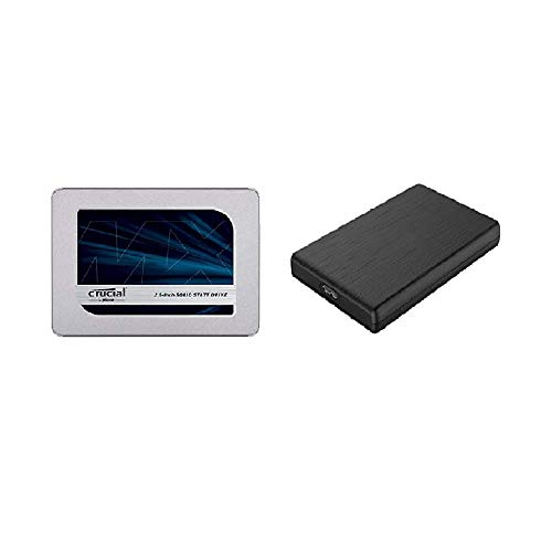 Crucial SSD 1000GB MX500 内蔵2.5インチ 7mm MX500 (9.5mmスペーサー付属) 5年保証 【PlayStation4 動作確認済】 正規代理店保証品 CT1000MX500SSD1/JP + 玄人志向 2.5型HDDケース GW2.5OR-U3