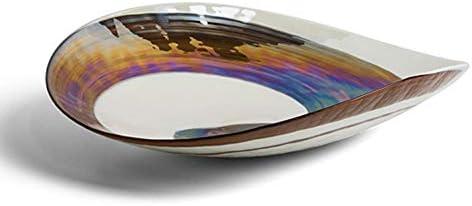 YourMurano - Plato de Cristal de Murano, Placa de Cristal Iridiscente, decoración en Espiral, diseño Moderno, Vidrio soplado, Fabricado en Italia, 100% Marca de Origen Garantizada, Barbacan