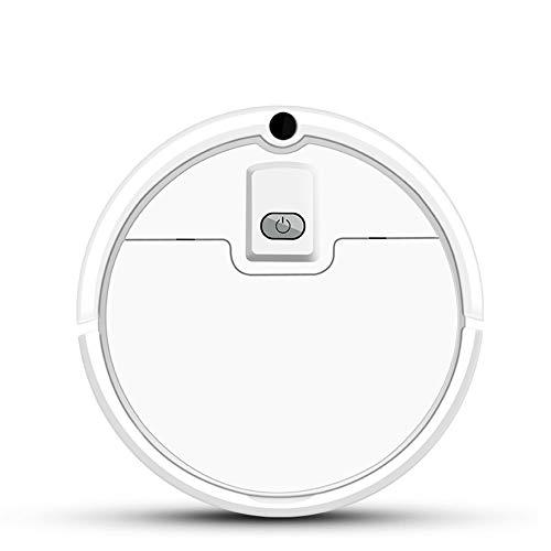 JQRXCQ Roboter-Staubsauger Vollautomatische Fernbedienung 1200Pa Kehren Und Ziehen Intelligente Kehrroboter,Blanco