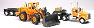 New Ray Die-Cast Truck Replica - Kenworth W900 with Front Loader, 1:32 Scale.