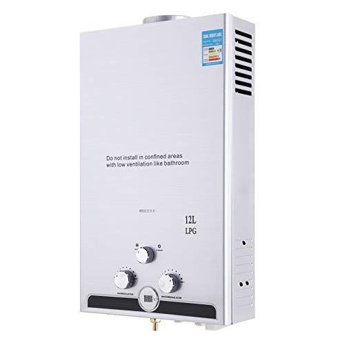 Z ZELUS 12L Calentador de Agua LPG Calentador de Agua Instantáneo 24KW Calentador de Agua de Gas Licuado de Petróleo sin Tanque (12L)