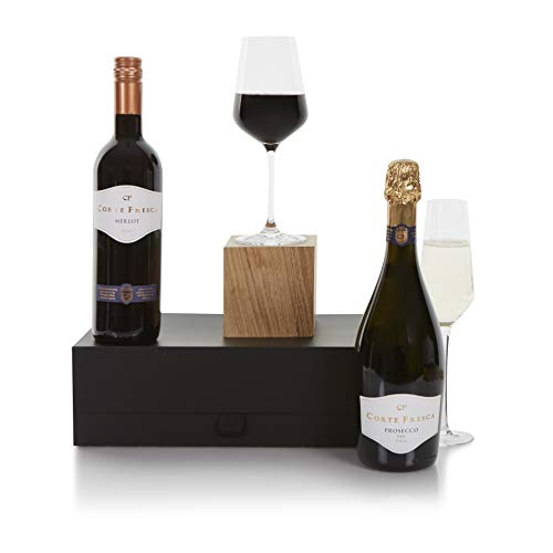 Prosecco and Red Wine Gift Hamper, Wine Hampers and Gift, Wine Duo Gifts