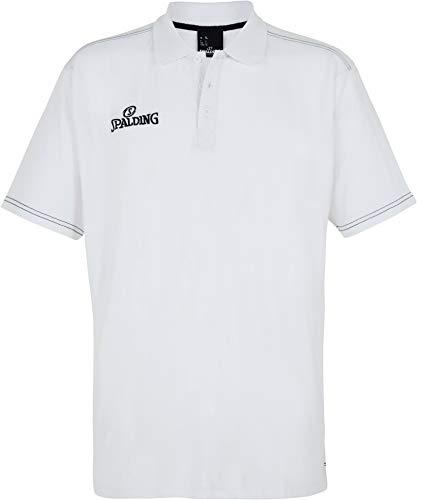 Spalding Slim Cut Shirt Homme Blanc FR : 3XL (Taille Fabricant : 3XL)