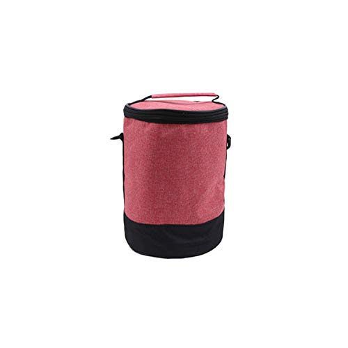 Women Men Round Heat Preservation Package Lunch Bag Denim Shoulder Lunch Boxes Picnic Bento Box Insulated Pack Thermal Ice Packs,Big-02