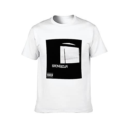Camiseta de manga corta para hombre Stone Sour Rock Tee para mujer Hiphop Shirts