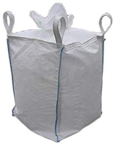 KIU Grand sac taille 94 x 94 x 210 cm 1 tonne 1000 kg, bec verseur et bec de décharge, sac Jumbo recyclé, déchets de jardin, 90 x 90 x 150 cm