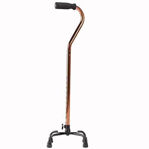 YWYW Muletas Ligeras de Cuatro Patas de aleación de Aluminio Andador Ajustable bastón Antideslizante para Ancianos ⭐