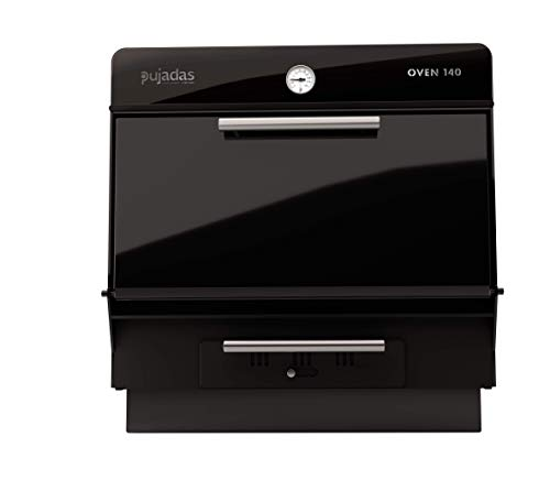 PUJADAS Oven 140 Horno Brasa para 140 Comensales. 88X90X84 CM. 100 Kg. de Producción a la Hora. Color Negro.