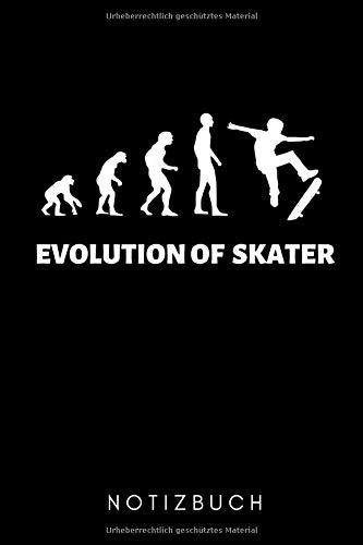 EVOLUTION OF SKATER NOTIZBUCH: A5 Notizbuch PUNKTIERT Skateboarder Geschenk | Skateboard Buch | Kinder Erwachsene | Skateboarding | für Skateboardfahrer | Geschenke für Jugendliche