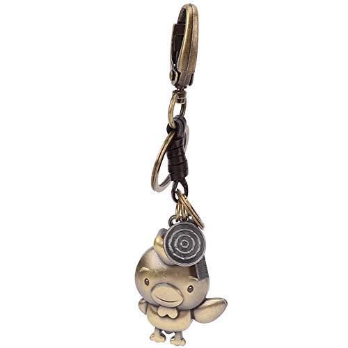 HEEPDD Vintage Sleutelhanger sleutelhanger, karikatuur, dier-vormig leer, handgeweven sleutelhanger, hanger voor tasdecoratie, verjaardag, feest, afstuderen, Kerstmis