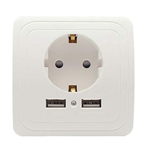 xiaoxioaguo Enchufe de la UE enchufe puerto USB enchufe adaptador cargador de pared