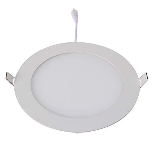 Bubbry 12W warmwit LED-inbouwdownlight met ronde, vlakke, dunne plafondlamp