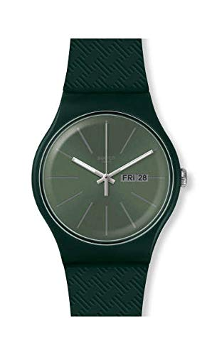 Swatch Herenhorloge analoog Zwitsers kwarts horloge met silicone armband SUOG710