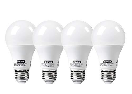 Genie LED Garage Door Opener Light Bulb - 60 Watt (800 Lumens) - Made to Minimize Interference with Garage Door Openers (Compatible with All Major Garage Door Opener Brands) – LEDB1-R (4 Pack)