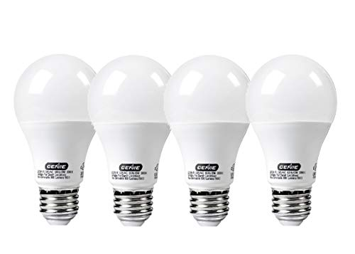 Genie LED Garage Door Opener Light Bulb - 60 Watt (800 Lumens) - Made to Minimize Interference with Garage Door Openers (Compatible with All Major Garage Door Opener Brands) – LEDB1-R (4 Pack)