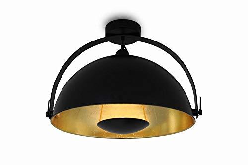 Deckenleuchte Deckenlampe Alona Ceil Retro Style schwarz & gold Ø 45cm 10685