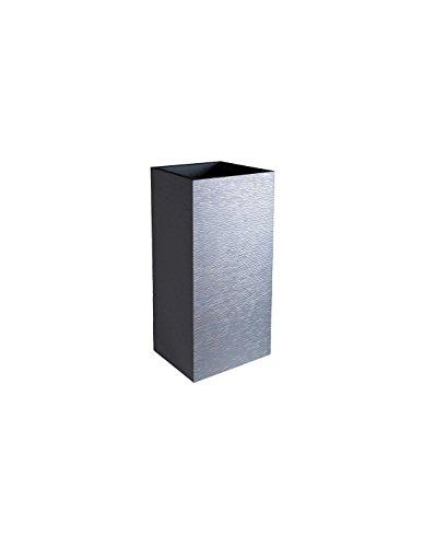 EDA Plastiques Pot carré GRAPHIT Gris anthracite 39,5 x 39,5 x 80 cm 13738 G.ANT SX1