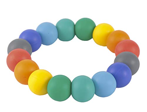Sensory Teething Bracelet for Infants Baby, Silicone Chew Bracelet for Kids Toddler Chewing Biting,Chewable Beads Teether Toy for Boys Girls with Autism ADHD SPD Anxiety