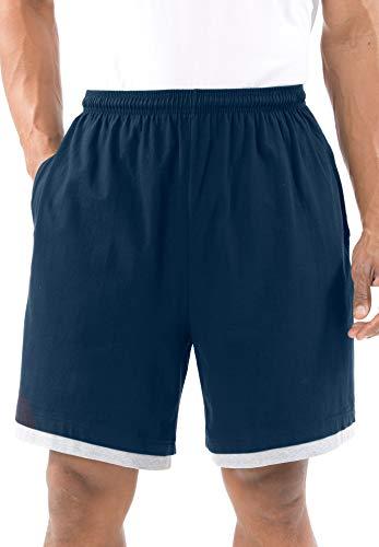 KingSize Men's Big & Tall Hang-Down Lightweight Shorts - Big - 5XL, Navy