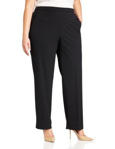 Briggs New York Women's Plus-Size All Around Comfort Pant, Black, 22W