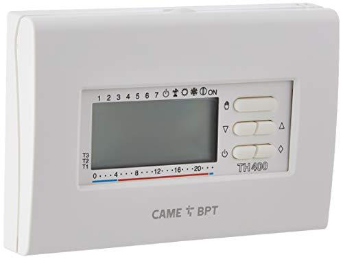 Cronotermostato elettronico digitale settimanale bianco TH 400 BB