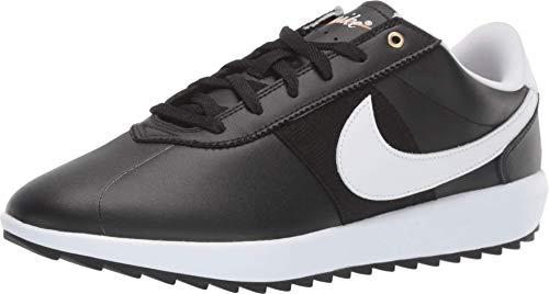 Nike Golf Cortez G Black/White/Metallic Gold 9