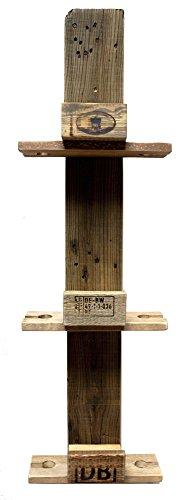 Palettenmöbel Weinregal vertikal mit Glashalter aus recycelten Palettenholz - Jedes Stück EIN Unikat aus echter Handarbeit - perfekt als Hängeregal und Weinflaschenhalter