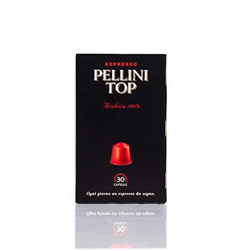 Pellini Caffè, Espresso Pellini Top Arabica 100%, kompatibel mit Nespresso, 30 Kapseln