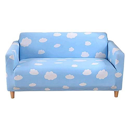 Wyxy Funda de sofá Elástica Todo Incluido Universal Four Seasons Modern Simple (Color: Azul, Talla: 2 sitzer)