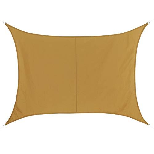 BB Sport Sonnensegel 2m x 2.5m Terracotta Rechteckig Wetterbeständig Wasserabweisend Sonnenschutz 100% PES Sichtschutz Windschutz Tarp