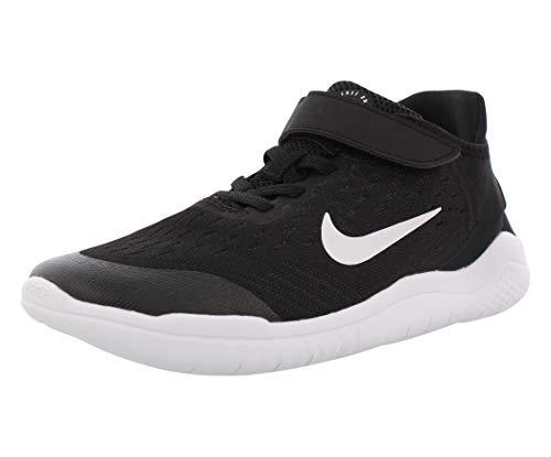 Nike Free Rn 2018 (PSV) Little Kids Casual Running Shoe Ah3452-003 Size 11 Black/White