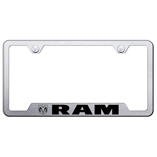 Dodge RAM Brushed Stainless Steel License Plate Frame, Official Licensed