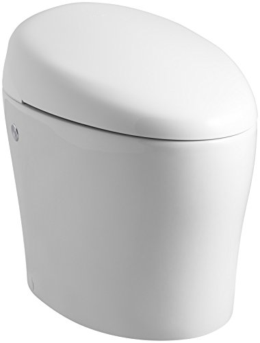 KOHLER K-4026-0 Karing Skirted One-Piece Elongated Toilet with Bidet Functionality, White
