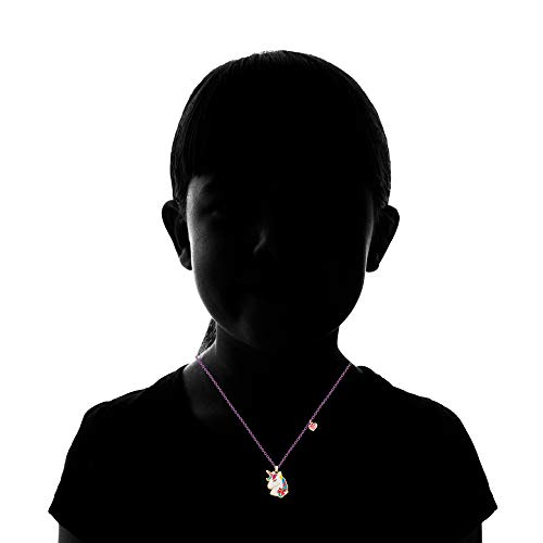 Jojo Siwa Unicorn with Heart Charm Pendant Necklace, 16